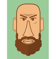 Avatar character head Human shape vector