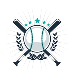 baseball emblem icon vector image