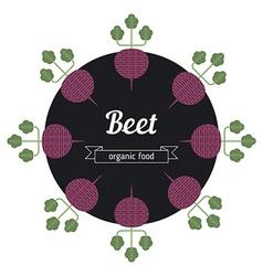 Beet vegetables vector