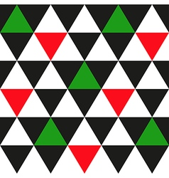 Black White Red Green Triangle Background vector