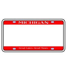 Blank michigan license plate vector