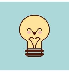 Bulb character kawaii style vector
