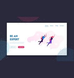 Career boost start up website landing page vector