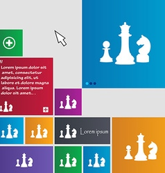 Chess Game icon sign buttons Modern interface vector