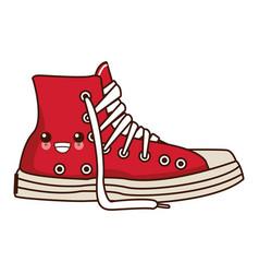 classic urban shoe kawaii cute cartoon vector image