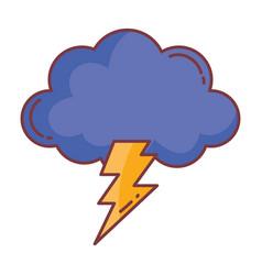 cloud thunderbolt hello autumn design icon vector image