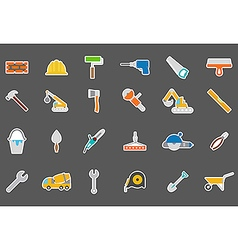 Construction stickers set vector image