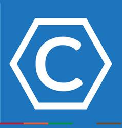 Copyright symbol icon design vector