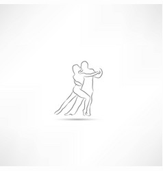 Dancer icon vector