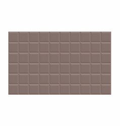 dark chocolate tablet vector image