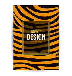 Design brown poster with tiger skin texture vector