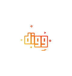 Digg icon design vector