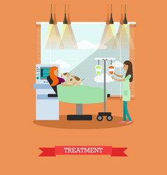 disability and medical treatment vector image
