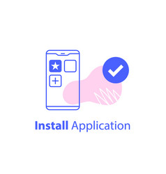download and install application vector image