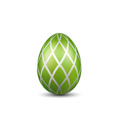 Easter egg 3d icon green color egg isolated vector