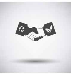 Ecological handshakes icon vector image