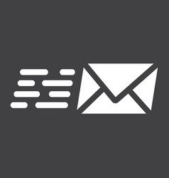 email marketing glyph icon seo and development vector image