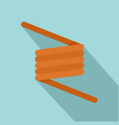 flexible spring cable icon flat style vector image