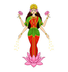 Goddess laxmi pooja happy diwali celebration 2019 vector