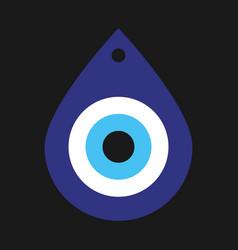 Greek evil eye symbol protection vector