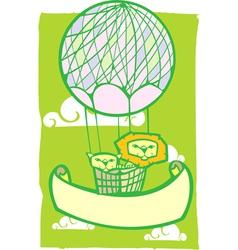 Happy Lion Balloon Banner vector