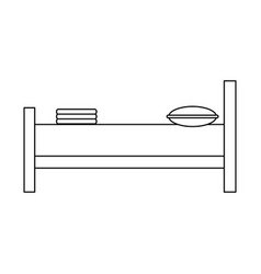 hotel bed symbol black and white vector image