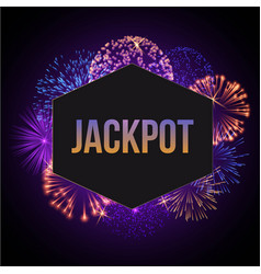Jackpot advertisement template banner vector
