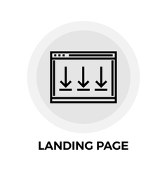 Landing Page Line Icon vector image