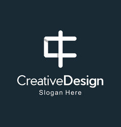 letter c with cross church creative business logo vector image