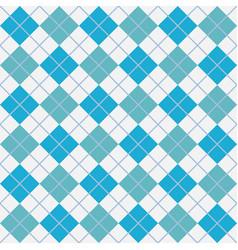 Light blue argyle harlequin seamless pattern vector