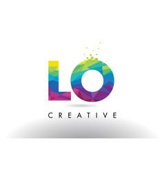 Lo l o colorful letter origami triangles design vector