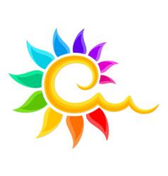 Logo of the color sun vector