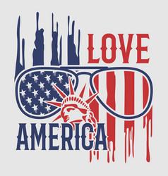love america vector image