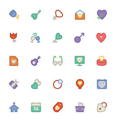 Love and Romance Colored Icons 9 vector