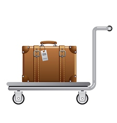 Luggage cart vector