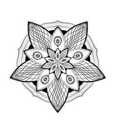 mandala geometry flower graphical vector image