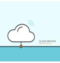 modern outline flat design of cloud service vector image