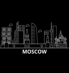 moscow silhouette skyline russia - moscow vector image