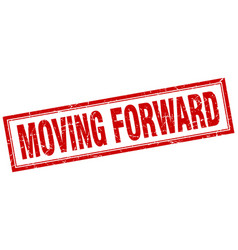 Moving forward square stamp vector