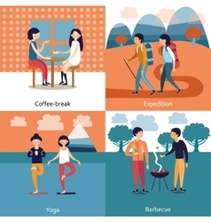 Pastime Of Friends Concept vector