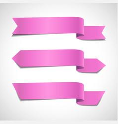 pink arrow banners set vector image