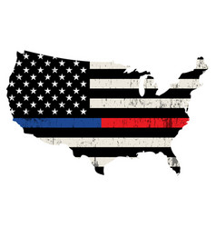 police and firefighter usa support vector image