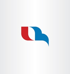 Q letter logo red blue icon symbol design vector