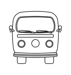 Retro van isolated icon design vector