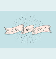 Ribbon with text enjoy day vector