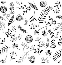 seamless pattern with wild herb vector image