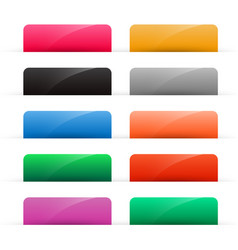 set colorful shiny web buttons vector image