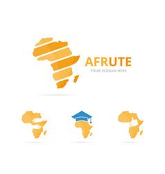 Set of africa logo combination safari symbol vector