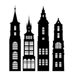 Silhouettes houses vector