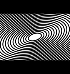 simple black circles in lines design on white vector image